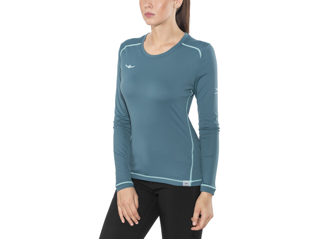 Kaikkialla Tiina - Camiseta de manga larga Mujer - Azul petróleo